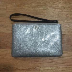 Kate Spade Silver Glitter Wristlet